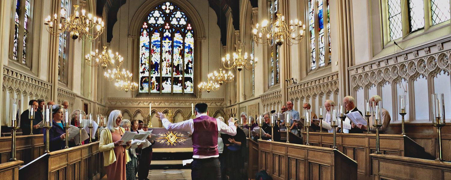 Ben conducting the Portsmouth Festival Choir at Corpus Christi College, Oxford
